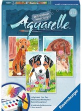 Aquarelle Water Color Painting, Puppies