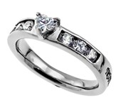 Trust Princess Solitaire Women's Ring, Size 8 (Proverbs 3:5)