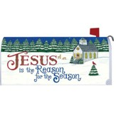 Jesus is the Reason for the Season, Country Church, Mailbox Cover