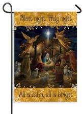 Silent Night, Holy Night, Nativity Scene, Flag, Small