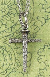 Pitted Nail Cross Necklace