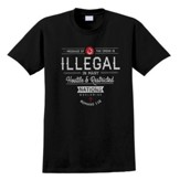 Illegal, Nations Shirt, Black, Large