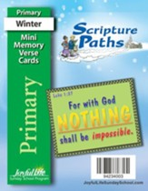 Scripture Paths Primary (Grades 1-2) Mini Memory Verse Cards