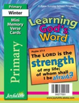 Learning God's Word Primary (Grades 1-2) Mini Memory Verse Cards
