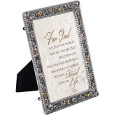 Jeweled Pewter Frame, For God So Loved The World, 5 x 7