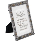 Jeweled Pewter Frame, Mother, Proverbs 31:28, 5 x 7