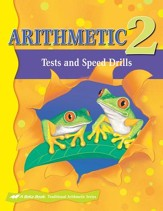 Abeka Arithmetic 2 Student Tests and  Speed Drills