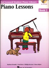 Piano Lessons-Book 2 (Book/Enhanced CD Pack)