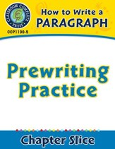 How to Write a Paragraph: Prewriting Practice - PDF Download [Download]