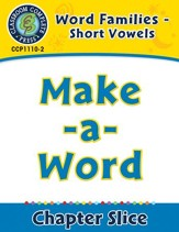 Word Families - Short Vowels:  Make-a-Word - PDF Download [Download]