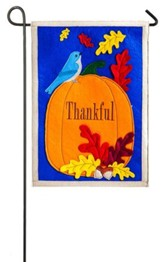 Thankful Felt Flag, Small