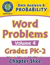 Data Analysis & Probability: Word Problems Vol. 4 Gr. PK-2 - PDF Download [Download]