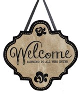 Welcome Burlap Door Decor Hanger