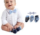 Sock & Bow Tie Gift Set, Seersucker