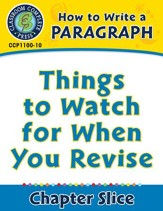 How to Write a Paragraph: Things to Watch for When You Revise - PDF Download [Download]