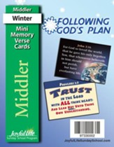 Following God's Plan Middler (Grades 3-4) Mini Memory Verse Cards