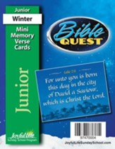 Bible Quest Junior (Grades 5-6) Mini Memory Verse  Cards
