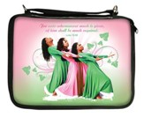 Three Ladies Bible Cover, Pink and Green