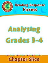 Reading Response Forms: Analysing  Gr. 3-4 - PDF Download [Download]