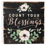 Count Your Blessings, Block Sign, Small