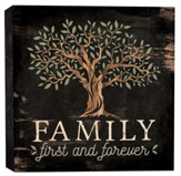 Family First and Forever, Block Sign, Small