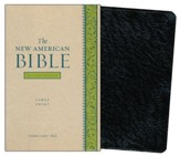 The New American Bible, Genuine Leather, Black,      Large Print, Revised Edition