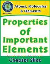 Atoms, Molecules & Elements:  Properties of Important Elements Gr. 5-8 - PDF Download [Download]