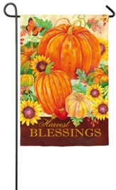 Harvest Blessings Pumpkins Flag, Small