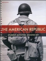 BJU Press Heritage Studies: The American Republic Student Activity Manual Teacher's Edition (Fourth Edition)
