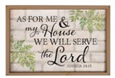 As for Me and My House, We Will Serve the Lord, Framed Faux Brick Sign, Large