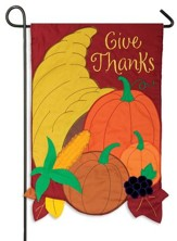 Give Thanks, Cornucopia, Small Flag
