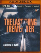 #1: The Last Thing I Remember - unabridged audio book on MP3-CD