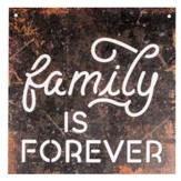 Family Is Forever, Silhouette Sign, Large
