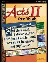 Acts II Ch. 13-28: Paul's Ministry, Youth 2 to Adult, Bible Study ,  Key Verses Visuals