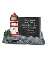 My Light, Lighthouse, Scripture Card Holder, with 30 Cards, Psalm 119:105