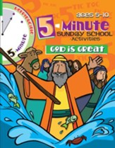 Download: 5 Minute Sunday School Activities - God is Great - PDF Download [Download]