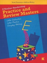 Do It Yoursef D'Nealian Practice & Review Blackline Masters Grade K