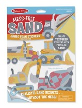 Mess-Free Sand, Jumbo Foam Stickers, Construction
