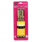 Pigma Micron, Assorted Sizes, Set of 3, Black