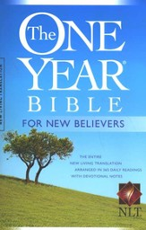 The NLT One-Year Bible for New Believers, softcover