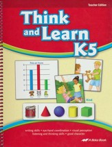 Abeka Think and Learn K5 Teacher Edition