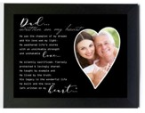 Dad, Written on my Heart Photo Frame