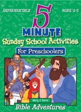 Download 5 Minute Sunday School Activities for Preschool - Bible Adventures - PDF Download [Download]