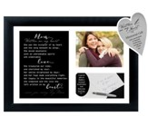 Mom… Written on My Heart Photo Frame with Writing Keepsake