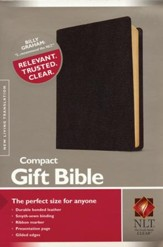 NLT Compact Gift Bible-Bonded Leather, Black - Slightly Imperfect
