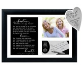 Sister… Written on My Heart Photo Frame with Writing Keepsake