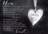 Mom Heart Ornament and Framed Poem