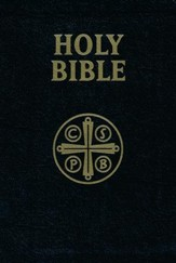 Douay Rheims Bible Leather Black