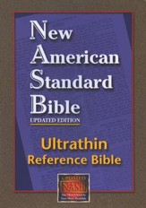 NASB Ultrathin Reference Bible--bonded leather, burgundy