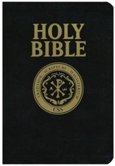 The Official Catholic Scripture Study International Bible, Largeprint, Bonded Leather, Black - Imperfectly Imprinted Bibles